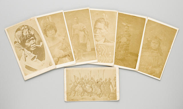 Seven Carte de Vistes of Maori Peoples, New Zealand, ca. 1860s