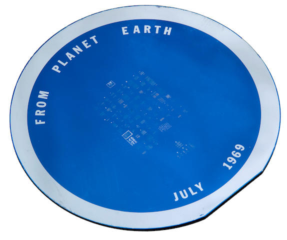 THE GOODWILL DISC. MESSAGES FROM PLANET EARTH.  A circular silicon disc, manufactured by the Semi-Conductor Division of Sprague Electric Company of North Adams, Massachusetts.