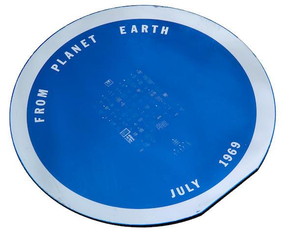 Apollo 11 goodwill disc in case