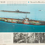 Group of 6 Original WWII US Navy Submarine Lithographic Posters (3/60)