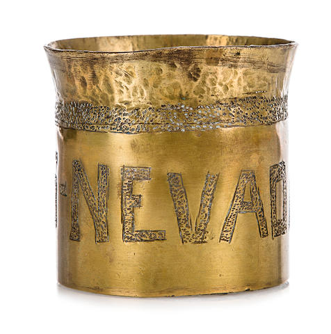 U.S.S. Nevada. Brass Rum Cup  circa 1940-41 2-3/4 x 2-3/4 in. (6.9 x 6.9 cm.) height x diameter.