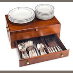 Captain's flatware chest