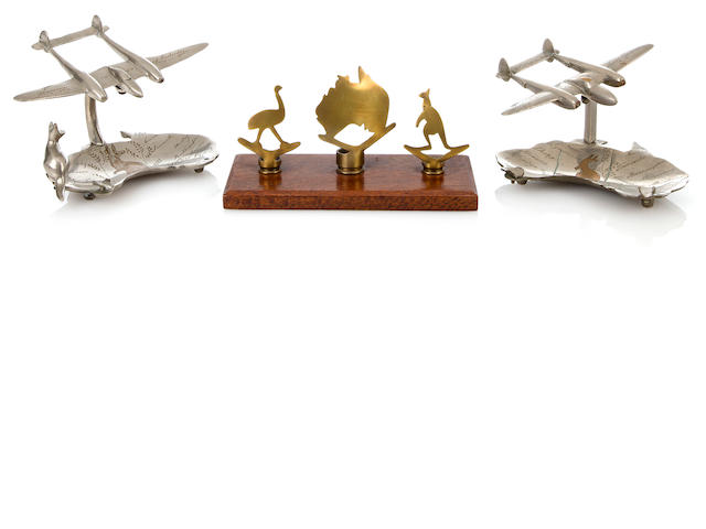 P-38 models and desk ornament, Australia