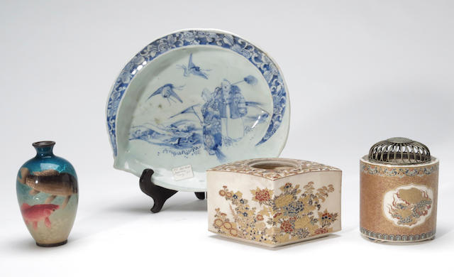 A group of four Japanese decorative articles Meiji period