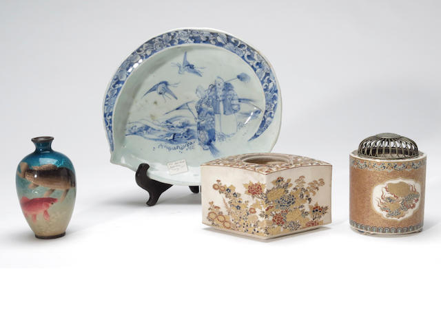 A group of four Japanese decorative articles 19th century