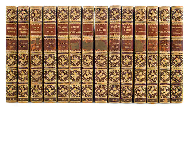 Works of Thomas Hardy, 20 volumes, published by Macmillan and Co., of London, 1912-1914