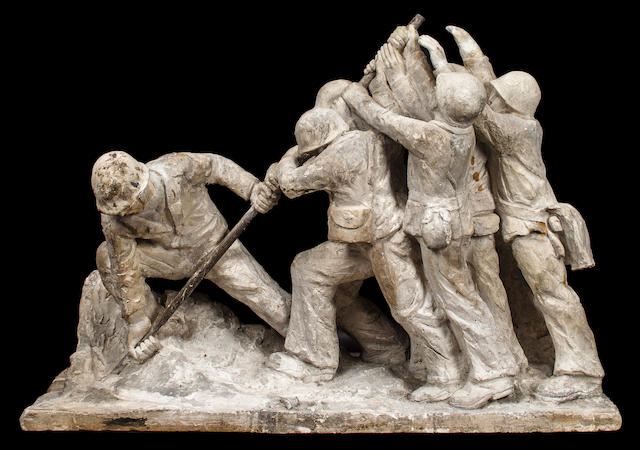 Plaster maquette for the Parzini War Loans NYC Scultpture, 1945