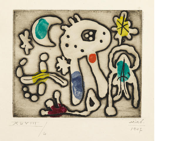 Joan Miró (1893-1983); The Prints of Joan Miró: One plate;