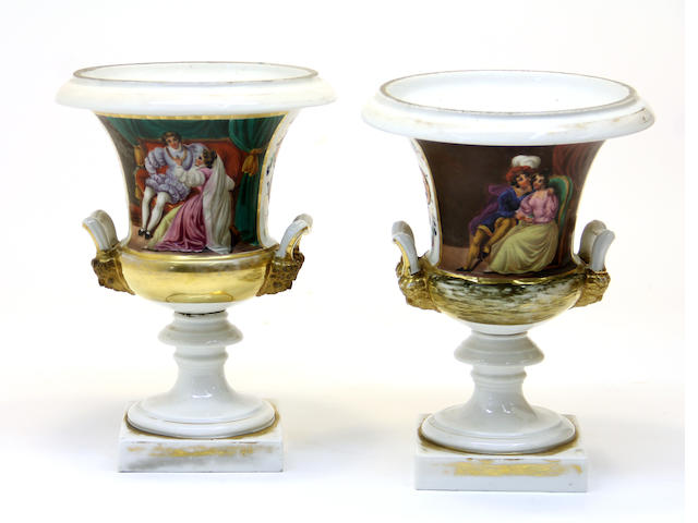 A pair of campagna form urns