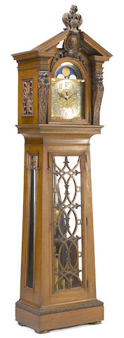 A fine Baroque style walnut and oak tall case clock Elliott, London Retailed by Shreve and Company, San Francisco first half 20th century