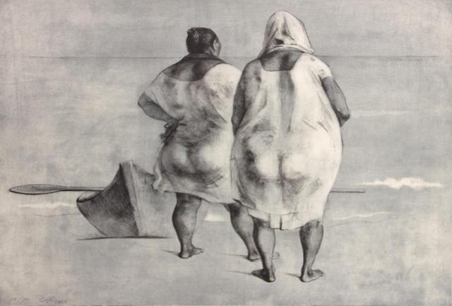 Francisco Zúñiga (Mexican, 1912-1998); Mujeres Frente al Mar;
