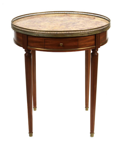 A Louis XVI style gilt bronze mounted side table