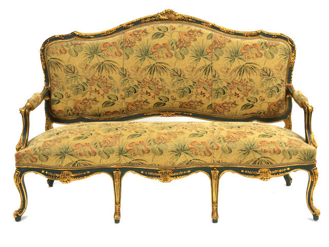 An Italian Rococo style paint deocrated settee