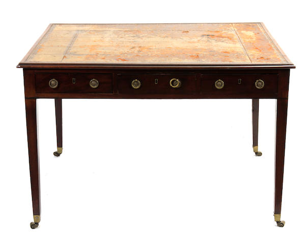 A George III mahogany partners desk