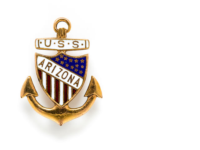 USS Arizona gold pin