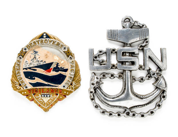 destroyer plaque and anchor plaque