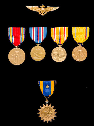 USS Yorktown Air Medal group