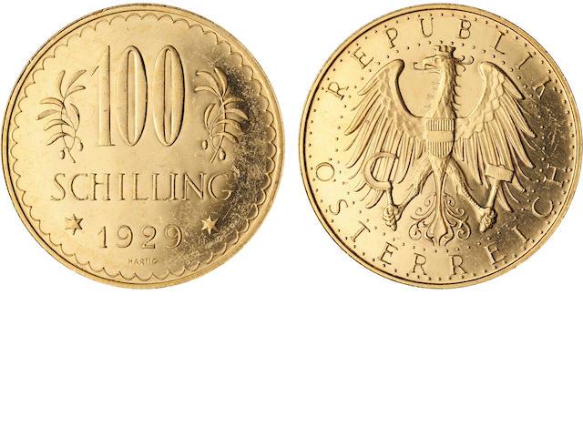 Austria, 1929 100 Schilling