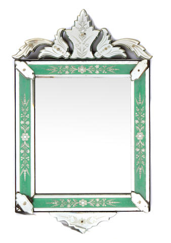 A Venetian acid etched mirror