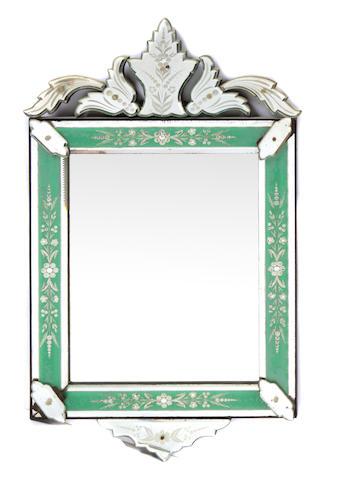 A Venetian acid etched mirror