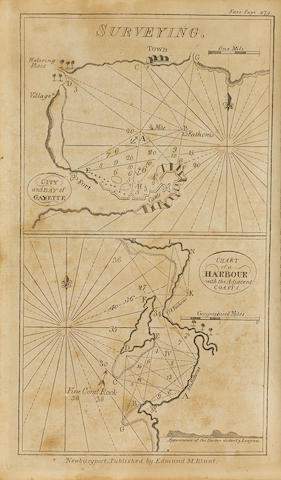 [BOWDITCH, NATHANIEL. 1773-1838.] MOORE, JOHN HAMILTON. The New Practical Navigator; being an Epitome of Navigation.... Newburyport: Edmund M. Blunt, 1799.<BR />
