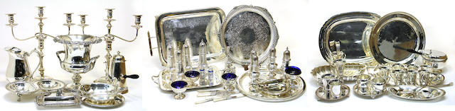 A quantity of plated table articles