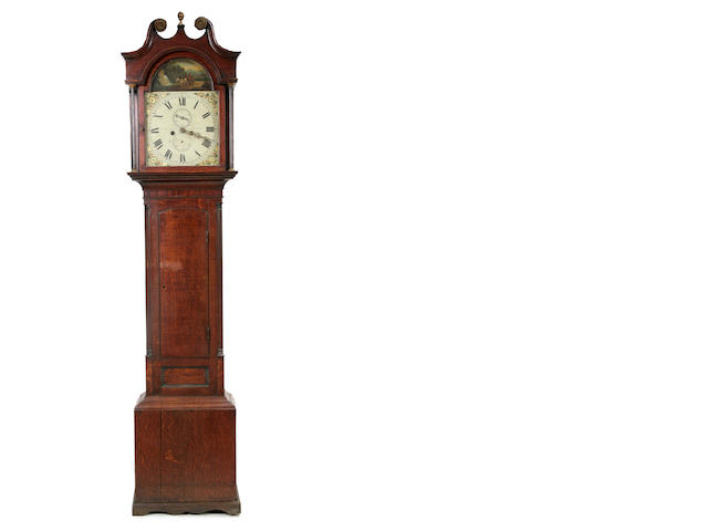A late George III oak tallcase clock