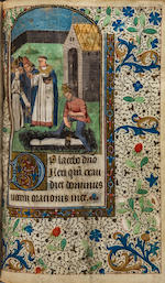 BOOK OF HOURS. Illuminated manuscript on vellum, mainly in Latin, Book of Hours, [France, late 15th or early 16th century].