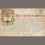 MANUSCRIPT—CALLIGRAPHY. BUSENITZ, JOHANN. Manuscript on paper, in German, Marienburg, August 2, 1713 and after.