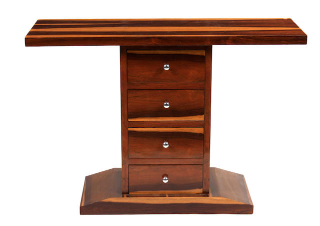 A pair of Art Deco style consoles