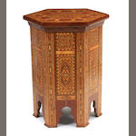A pair of Moorish style mosaic inlaid side tables