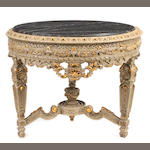 A Louis XVI style paint decorated salon table