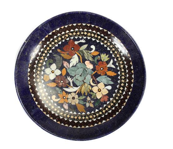 A specimen hardstone inlaid bowl
