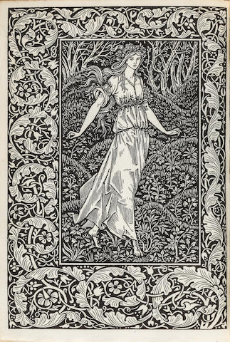 KELMSCOTT PRESS. MORRIS, WILLIAM. The Wood Beyond the World. Hammersmith: printed by William Morris at the Kelmscott Press, May 1894.<BR />