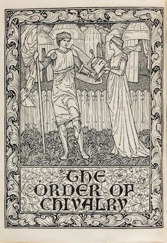 KELMSCOTT PRESS. The Order of Chivalry. Hammersmith: printed by William Morris at the Kelmscott Press, February, 1893.<BR />