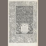 KELMSCOTT PRESS. ORBELIANI, SULKHAN SAB. The Book of Wisdom and Lies. Hammersmith: printed by William Morris at the Kelmscott Press, September, 1894.<BR />