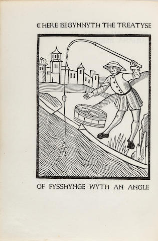 ASHENDENE PRESS. BERNERS, JULIANA, DAME.  A Treatyse of Fysshynge wyth an Angle. Chelsea: Printed at the Ashendene Press, 1903.<BR />