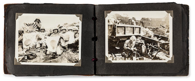 AP Photographer Joe Rosenthal's Personal Original World War II Photo Album of the Battle of Iwo Jima and the Iwo Jima Flag Raising