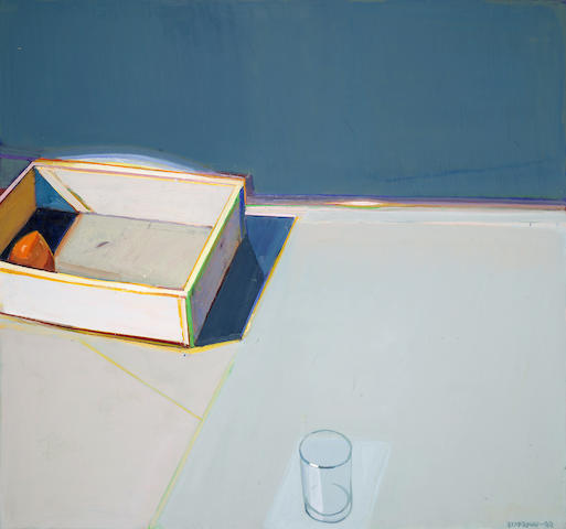 Raimonds Staprans (born 1926) Sunshine Case with a Lonely Persimmon, 2000 42 x 45in (106.7 x 114.3cm)