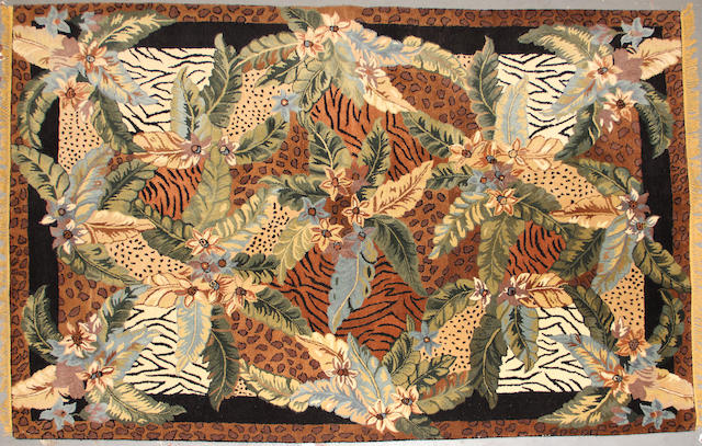 A Chinese chain stitch size approximately 5ft. 10in. x 8ft. 11in.