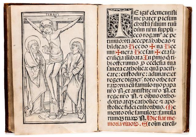 MISSAL. Speciale Missarum s[ecundu]m chorum Herb[ipole]n[sem]. [Basel: Jacob von Pfortzheim for Johann Rynman, 1509.]