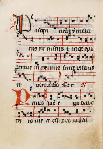 MANUSCRIPT—ANTIPHONAL. Manuscript on vellum, in Latin, [Germany, 15th century].