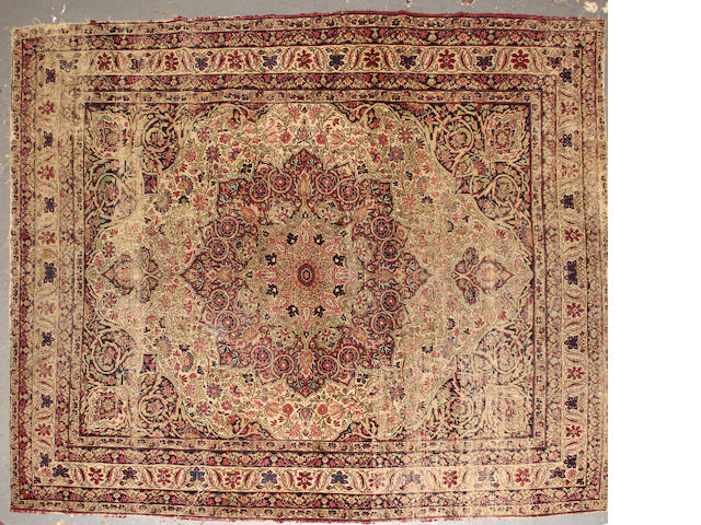 A Lavar Kerman carpet size approximately 6ft. 11in. x 9ft.