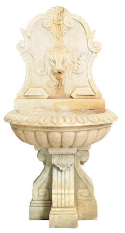An Italian Baroque style marble fountain