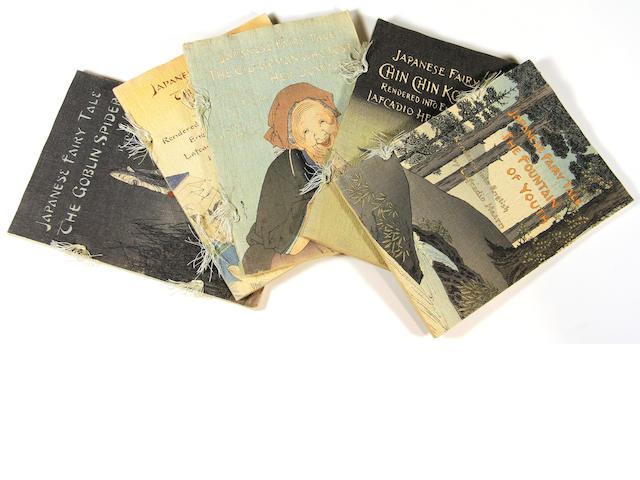 HEARN, LAFCADIO. 1850-1904.  [Japanese Fairy Tales.] Tokyo: T. Hasegawa, [1898-1925].