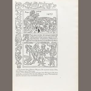 KELMSCOTT PRESS. COCKERELL, S.C., AND WILLIAM MORRIS. Some German Woodcuts of the Fifteenth Century. Hammersmith: printed under the direction of the late William Morris at the Kelmscott Press, December 1897..