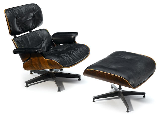 A Charles and Ray Eames 670 chair and 671 ottoman
