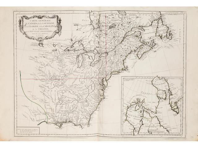 VAUGONDY, ROBERT, PIETRO SANTINI, and others. Atlas universel dressé sur les meilleures cartes modernes. Venice: Giuseppe Remondini, 1784.