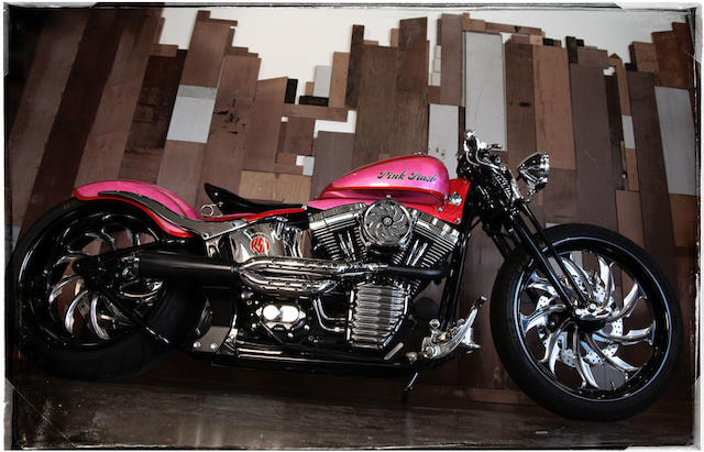 "One of a kind machine, photographed with Britney Spears astride,2001 Roland Sands Designs ""Pink Trash"" Frame no. 1HD1BJY341Y056866 Engine no. BJY1056866"