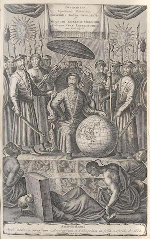 NIEUHOFF, JOHANNES. 1618-1672. Legatio Batavica ad Magnum Tartariae.... Amsterdam: Jacob Meursium, 1668.